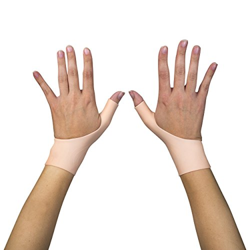 2 Premium Gel Wrist Support Braces for Right & Left Hand | Proven to Relieve Wrist & Thumb Pain Including Arthritis, Rheumatism, Carpal Tunnel, Tenosynovitis | Soft, Comfortable & Light Weight by Excelyfe (Image #8)