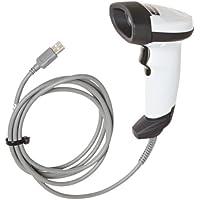 Motorola LI2208 Handheld Single Line Barcode Scanner with USB Host Interface, 547 scan/s Scan Rate, 5 VDC, Nova White