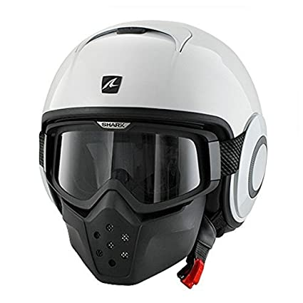 Shark RAW Blank Helmet (White, Large)