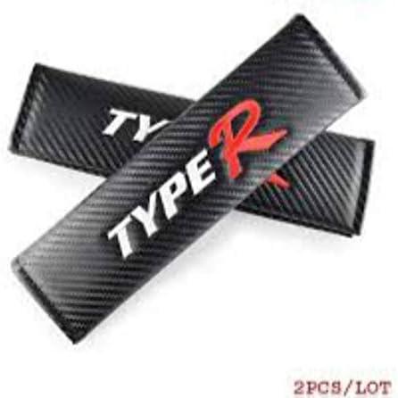 Lolosale Carbon Fiber Typer R Embroidery JDM Seat Belt Cover Shoulder Pad Accord Civic