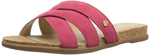 (Hush Puppies Women's Dalmatian Slide Wedge Sandal Paradise Pink 6 M US)