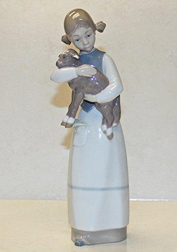 c1975 Lladro girl with lamb figurine (Lladro Girl Lamb)
