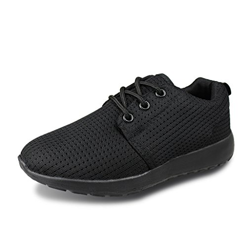 Hawkwell Breathable Lace-up Running Shoes(Toddler/Little Kid/Big Kid),Black Mesh,1 M US Little Kid - Kids Shoes