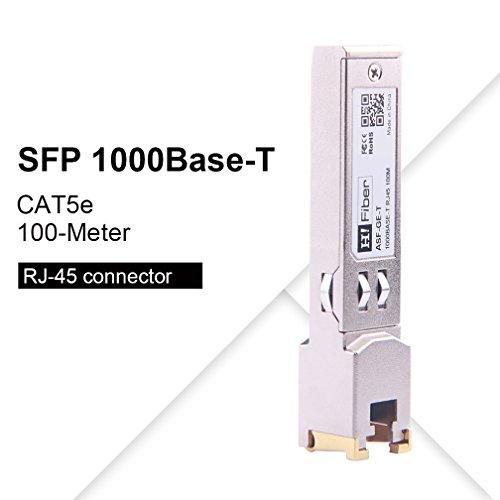 SFP Copper RJ45 Transceiver Gigabit Module 1000Base-T Compatible Cumulus OS/ Pica8 OS/QCT/ Penguin Computing/Edgecore/ Quanta by H!Fiber.com