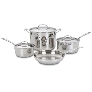 Cuisinart 77-7 Chef's Classic Stainless 7-Piece Cookware Set,Silver 9