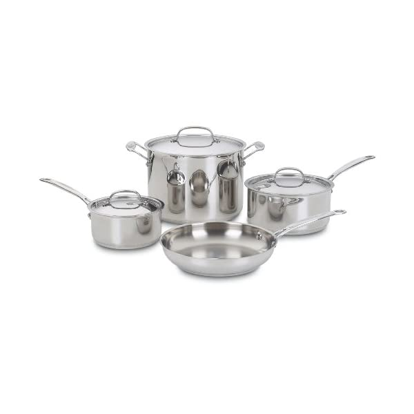 Cuisinart 77-7 Chef's Classic Stainless 7-Piece Cookware Set,Silver 1