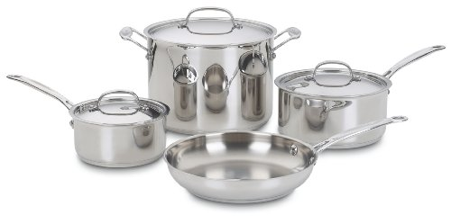 (Cuisinart 77-7 Chef's Classic Stainless 7-Piece Cookware Set )