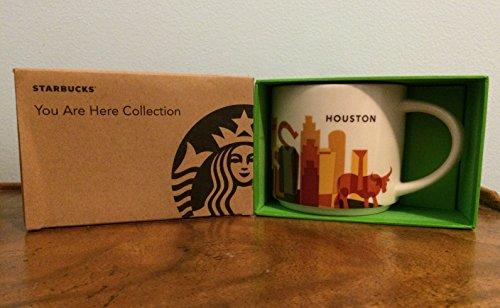 Houston Mug Coffee (Starbucks Houston You Are Here Collection Series Ceramic Coffee Mug)