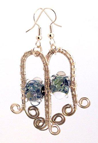 - Wire Wrapped Goddess Angel Earrings by SlipperyFishStudio