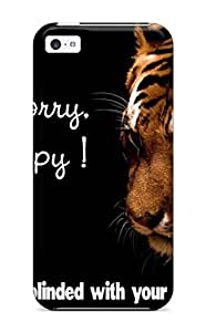 For Iphone 5c Protector Case Happy Tiger Quote Phone Cover