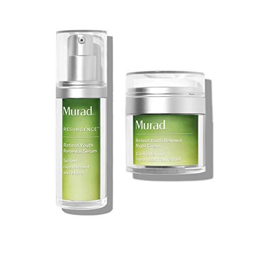 Murad Resurgence Lines and Wrinkles Bundle with Retinol Youth Renewal Night Cream (1.7 oz) and Retinol Youth Renewal Serum (1 oz)