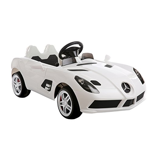 Wonderful Aosom 12V Mercedes Benz SLR Convertible Kids Electric Ride On Car With MP3  And Remote Control   White