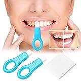 Pro Nano Teeth Whitening Kit, KOBWA Non-Peroxide Nano Teeth Whitening Strips Tooth Stains Remover (2 Handles 5 Strips)