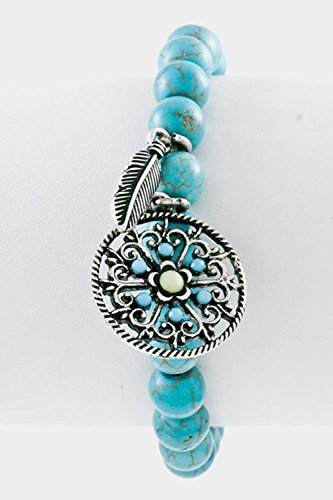 karmas-canvas-turquoise-with-floral-charm-stretch-bracelet