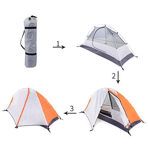 Gbyao Tent Camping Tent Free Standing Outdoor Beach Tent Sun Protection shed Detachable Double Waterproof Sleeping Tent 2 People