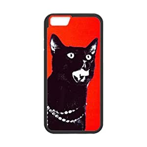 At-Baby Funny Design Black Cat Pattern Iphone 6 4.7'
