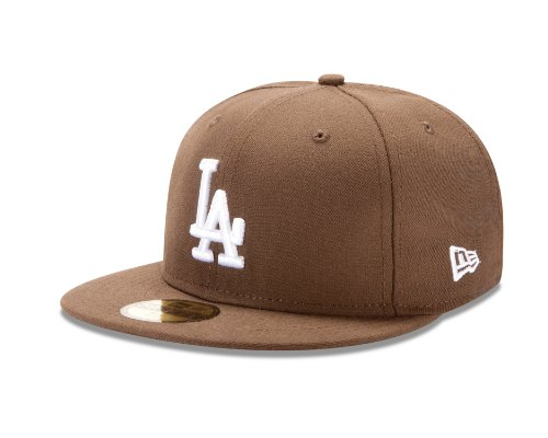 MLB Los Angeles Dodgers MLB Basic Walnut 59Fifty, Walnut, 7 1/2