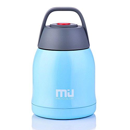 MIU COLOR 20 oz Food Jar Braised Beaker, Vacuum Insulated Stainless Steel Cooking Thermos, BPA Free leak proof, Aqua - Miu Miu Aus