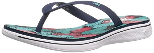 Skechers Performance Womens H2 Goga Lagoon Flip Flop Navy
