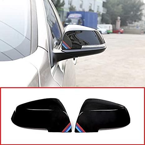 YIWANG ABS Plastic For F20 F30 F31 F21 F22 F23 F32 F33 F34 F35 X1 E84 Car Rearview Mirror Cover 1 2 3 4 series Side Wing Mirror Cap Parts (Gloss Black)