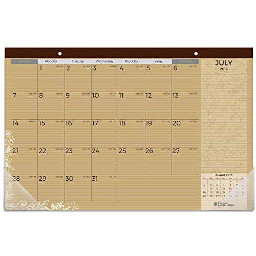 "Kraft Desk Calendar 2019-2020 | 18 Months (July 2019 - December 2020) | Size - 11""17"" | Dual use as Desktop Calendar or Wall Calendar by Custom Design and Print"