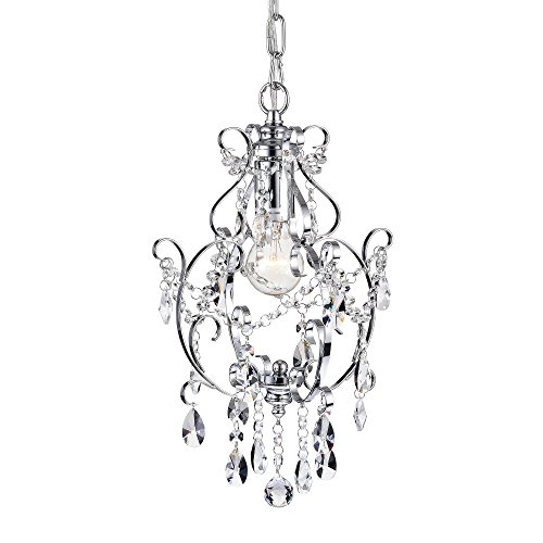 Amorette Chrome Mini Chandeliers Crystal Chandelier Lighting 1 Light Ceiling Light Fixtures Review
