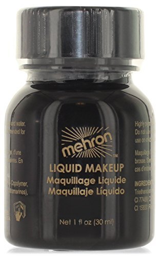 Mehron Makeup Liquid Face & Body Paint, BLACK - 1oz