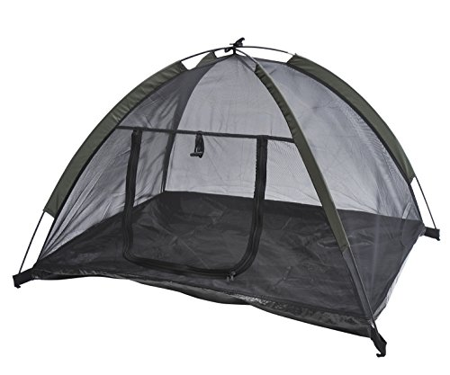MDOG2 Outdoor Mesh Pet Camping Tent with Fiberglass Rod, 35 by 28-Inch