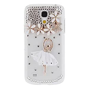 DUR Cute 3D Bling Crystal Ballet Girl Case Cover for Samsung Galaxy S4 Mini I9190