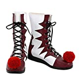 Adult Jokers Boots Horror Pennywise's Cosplay Shoes Halloween Costumes (Female-US-4, Multi-2)