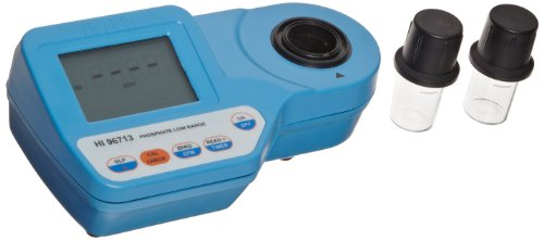 Hanna Instruments HI96713 Low Range Phosphate Portable Photometer with Sample Cuvettes, 7-19/32