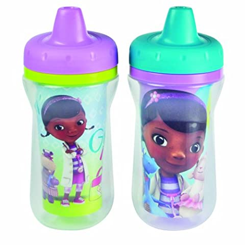 The First Years Disney Doc Mc Stuffins Insulated Sippy Cup, 9 Ounce (Color and design may vary) - 9 Junior Liquid