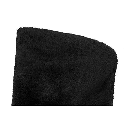 Bottes warm Femmes Plates Automne Noir Cuissardes Taoffen Hiver Ix0ZvTqww