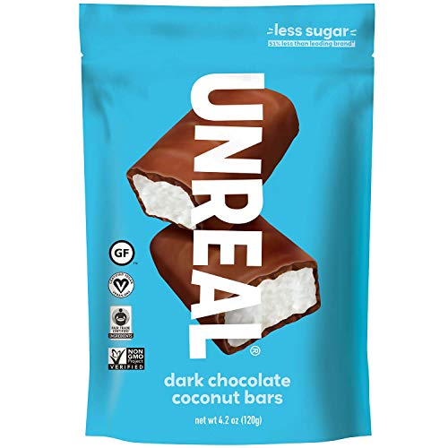 Vegan Halloween Candy (UNREAL Dark Chocolate Coconut Bars | Certified Vegan, Non-GMO, Less Sugar | 3)