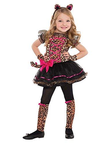 Amscan Girls Precious Leopard Costume - Small (4-6), Standard, Multicolor