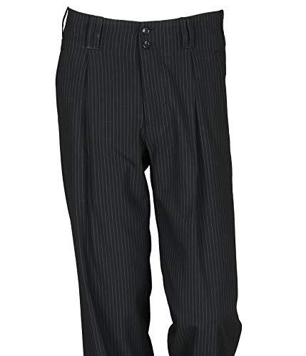 Mandel Gestreift Pantalon K weiss Homme À H Schwarz Pinces Noir qRfn5SaSz