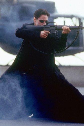 (The Matrix 24x36 Poster Keanu Reeves firing gun)