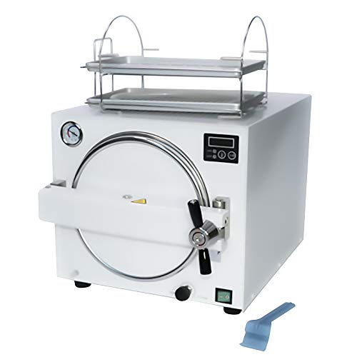 18L Dental Lab Equipment Chip Control Autoclave Steam Stainless Steel 1100 VAC Power