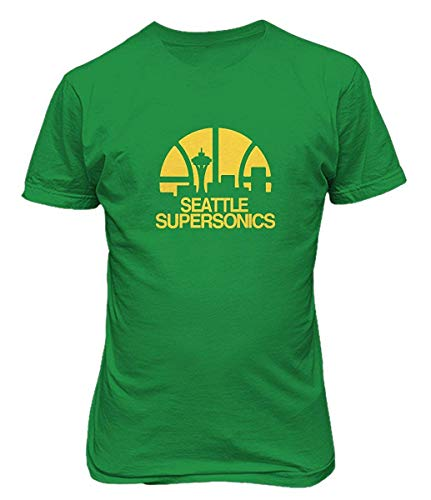 Seattle Supersonics Fan - Cozy-T Seattle Supersonics Basketball Casual Mens Cotton T Shirts