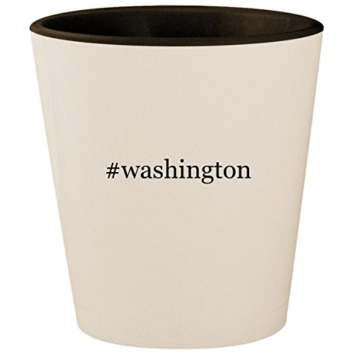 (#washington - Hashtag White Outer & Black Inner Ceramic 1.5oz Shot)