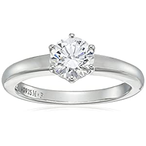Amazon-CollectionPlata-de-ley-platinum-plated-round-cut-Swarovski-Zirconia-Solitario-Anillo-de-compromiso-1-quilates