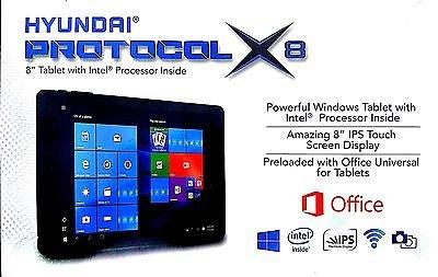 Hyundai Protocol X8 Intel Atom 8'' 2-in-1 PC With 2GB Memory, 32GB Storage, Windows 10