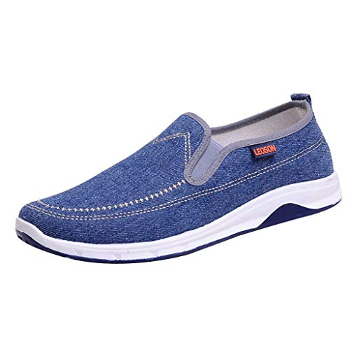 ♡Londony♡ Men's Athletic Walking Shoes Casual Mesh-Comfortable Work Sneaker Running Lightweight Breathable Sports Shoes