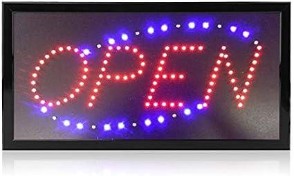 Letrero Orihat Open de 48,26 x 25,4 cm con LED para letrero de negocios, de neón, abierto, cuadrado: Amazon.es: Oficina y papelería