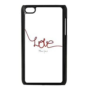Love Typography 0 iPod Touch 4 Case Black 05Go-249513