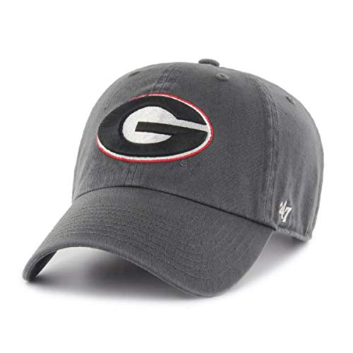 Ncaa Georgia Bulldogs University ('47 NCAA Georgia Bulldogs Mens Clean Up Adjustable Hat Clean Up Adjustable Hat, Charcoal, One Size)