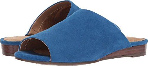 Suede Sandals Aerosoles (Aerosoles Women's BITMAP Slide Sandal, Blue Suede, 8.5 M US)