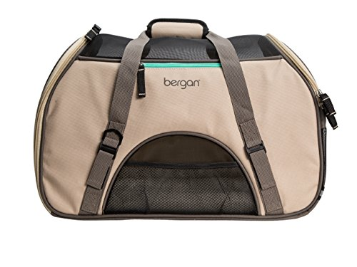 (Bergan Comfort Carrier for Pets, Taupe, Large 19