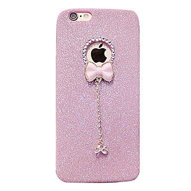 Fundas y estuches para teléfonos móviles, caja del teléfono de material colgante de TPU brillo del arco para el iphone 6s 6 más ( Color : Rosa , Modelos Compatibles : IPhone SE/5s/5 )