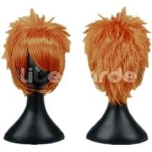 VOCALOID Series Fairy Tail Short Orange Cosplay wigs (Orange)